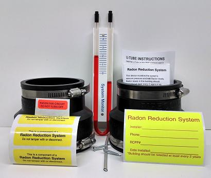 Radon mitigation parts