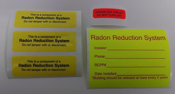 radon labels