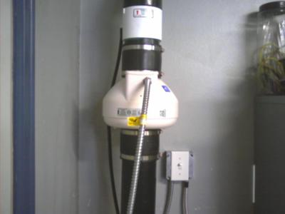 Radon Fan in garage