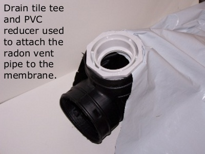 Crawl space ventilation pipe