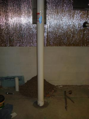 Radon suction pipe 4 inch with manometer