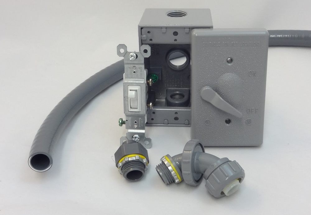 Fan Power Cord And Strain Relief Bushing
