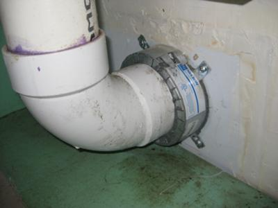 Exhaust pipe in garage