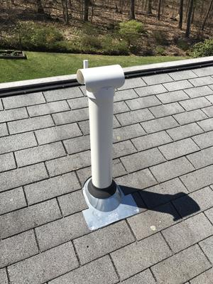 Radon Vent above the roof