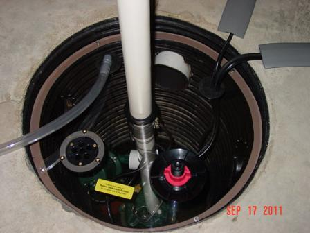 Radon Mitigation System With A Sump Pump