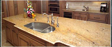 Radon granite countertop