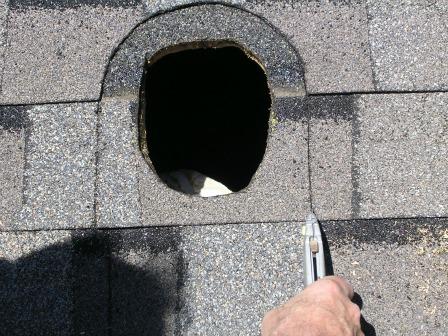 Remove lower shingle