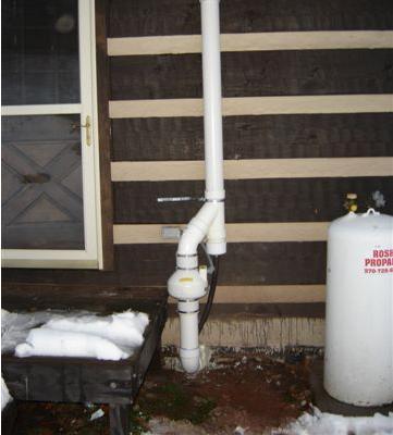 Outside radon Fan