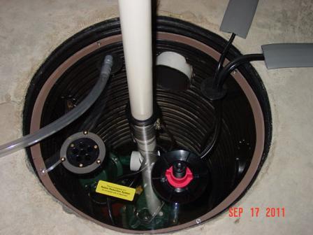 Radon sump system