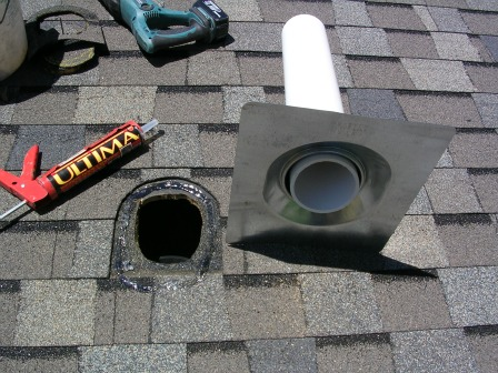 Radon vent ready to install
