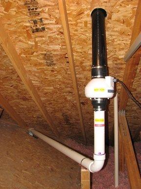 Attic Radon Fan Installation
